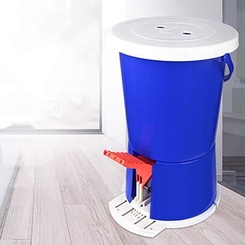 Mini-Pedalwaschmaschine Tragbare Manuelle Waschmaschine Mit FußPedal Motion Fitness Waschmaschine Ohne Elektronische Stromversorgung FüR Camping Haushalt Wohnheim Einzelwanne Blau
