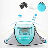 Mianbaoshu Seconds Outdoor Camping Tent for 3 Persons,Automatic Pop Up Tent for Outdoor, Hiking, Traveling, Backpacking