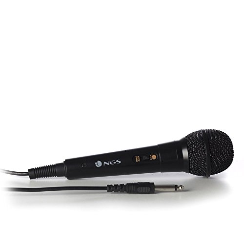 MICROFONO VOCAL NGS SINGER FIRE - IDEAL PARA KARAOKE, LONGITUD DE CABLE 3M - JACK 6,3 MM- ON/OFF. COLOR NEGRO