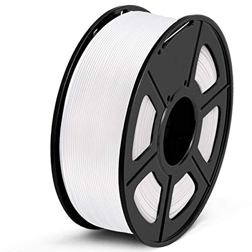 Filamento PLA 1.75mm, SUNLU PLA Filamento de Impresora 3D, Precisión Dimensional +/- 0.02 mm, 1kg Spool, PLA Blanco