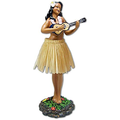 exotenherz Hawaii miniature Dashboard Hula Doll - Girl groß mit Ukulele