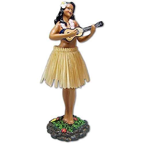 exotenherz Hawaii miniature Dashboard Hula Doll - Girl groß mit Ukulele