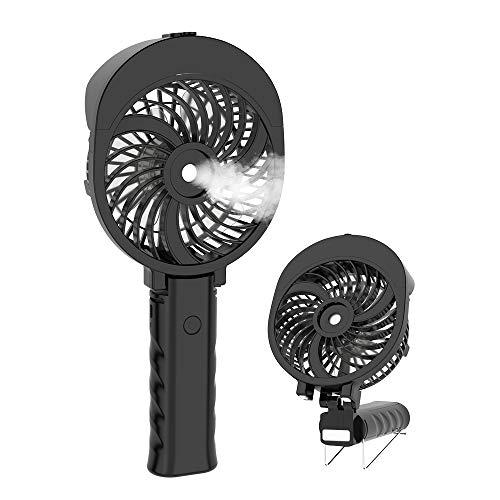 HandFan Ventilateur Brumisateur Main Ventilateur d'Atomisation Portatif Ventilateur Pliable USB Rechargeable Pliable Brumisateur Refroidisseur pour Voyage/Camping/extérieur