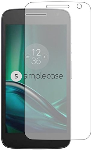 Simplecase Panzerglas passend zu Motorola Moto G , Premium Bildschirmschutz , Schutz durch Extra Festigkeitgrad 9H , Hülle Friendly , Echtglas / Verb&glas / Panzerglasfolie , Transparent - 1 Stück