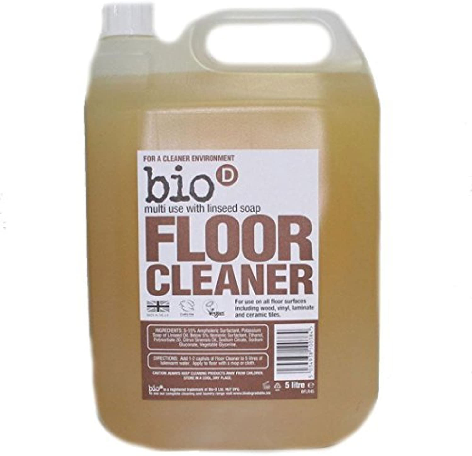 Bio D   Floor Cleaner + Linseed Soap   5L by Bio-d