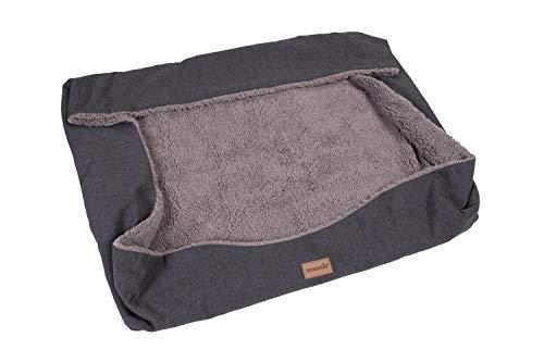 brunolie Wechselbezug Ersatzbezug für Emma, waschbar, hygienisch und rutschfest, Grau, Größe M