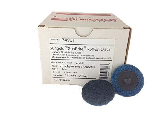 Sungold Abrasives 74901 Very-Fine Non Woven Surface Conditioning R-Type Quick Change Disc, 2-Inch, Blue (25/box)