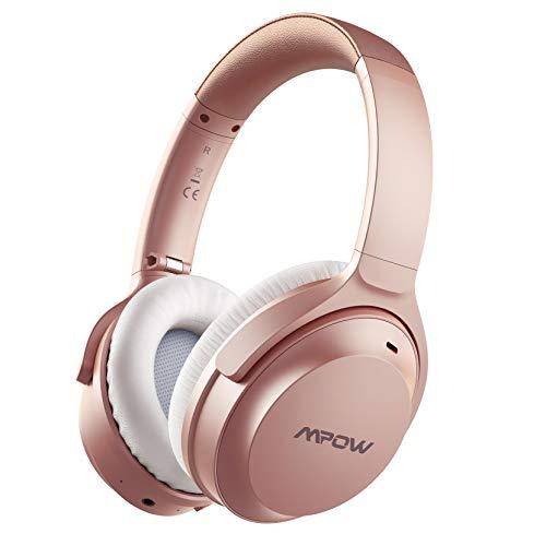 Mpow H12 IPO Auriculares con Cancelación Activa de Ruido, 40hrs de Reproducir, Micrófono CVC 8.0, Auriculares Diadema Bluetooth con Tipo C para TV, PC, Móvil