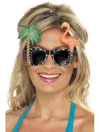Gafas de sol Hawaianas con palmera y flamenco
