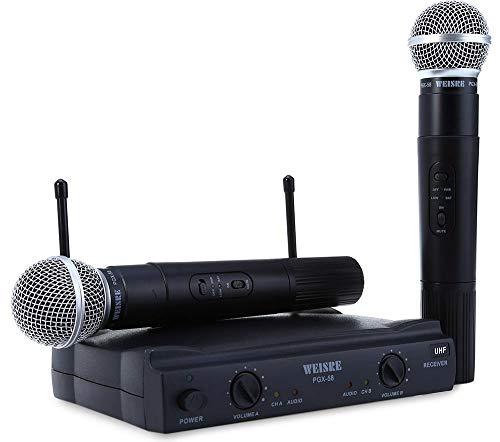 Microfone Duplo sem Fio Wireless PGX-58 Weisre