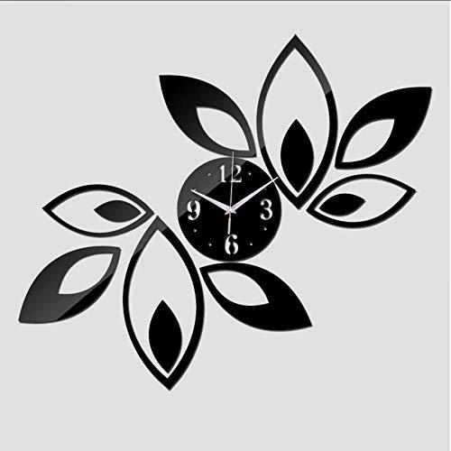 Djkaa 2019 Tijdloos quartz muur huis decoratie nieuwe spiegel acryl klok modern design klok sticker 45 * 45 cm