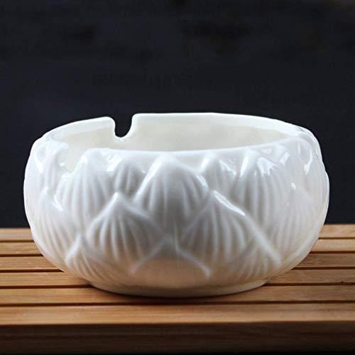 AMITD Chinese stijl keramiek ronde asbak decoratie dagelijks roken accessoires wit porselein theeceremonie
