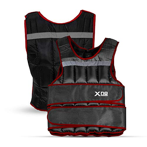 XN8 Gilet Pesi - Regolabile 10 kg 15 kg 20 kg Giubbotto per Palestra, Allenamento, Muscolare, Corsa, Fitness, Allenamento Forza