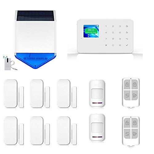 SZABTO inalámbrico táctil RFID Color inalámbrico de Pantalla gsm Inteligente SMS Sistema de Seguridad Kit de Bricolaje con Android y iOS aplicación y energía Solar Sirena