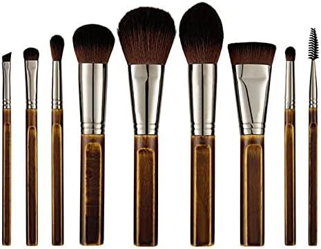Make Up price Brushes Vintage 9Pcs Wood Natural Pow 5 popular Makeup Set