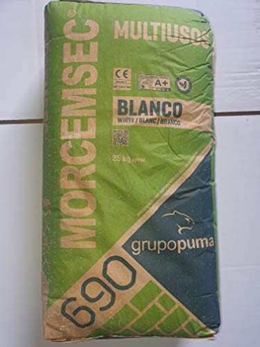 SACO DE 25 KG MORTERO MULTIUSOS BLANCO MORCEMSEC 690
