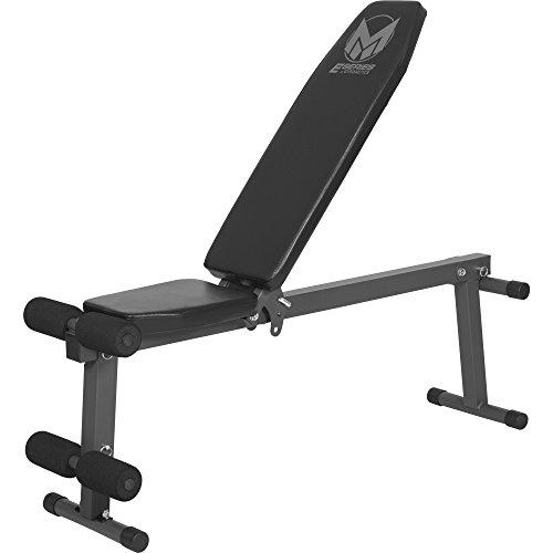GYRONETICS® Hantelbank verstellbar mit Beinstütze Schwarz – Multi-Bauchtrainer klappbar bis 100 kg belastbar