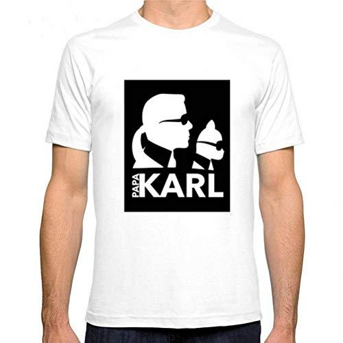 M-T Herren Rundhals Kurzarm T-Shirt Baumwolle Casual T-Shirt Sommer Herren Kurzarm Shirt Modedruck, Weiße fünf, XL