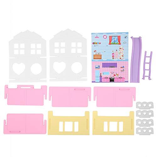 Juguetes de casa de muñecas en miniatura, mini juguetes de plástico para casa de muñecas, para juguetes, regalo, casa de bricolaje, niños(A house [single house])