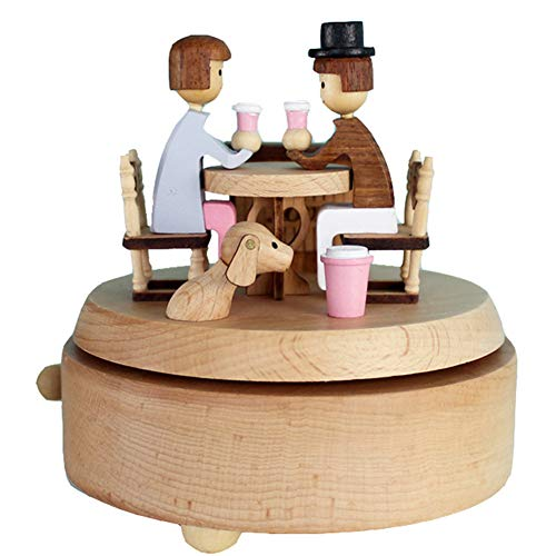 Chonor Scenari Innovativo Carillon Di Legno, Premium Creativo Mano Manovella Artigianato In Legno Scatola Di Musica - Incontri - Migliore Regalo E Decorazioni Idea Per Il Compleanno, Natale