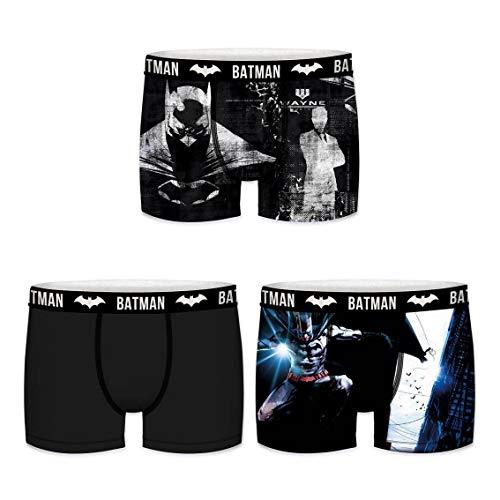 DCComics Black Batman & Spidermann Edition Boxershorts - 8 MEGA Motive zur Auswahl in Größen von S-XXL (XXL/8/54, Dreierpack 1)