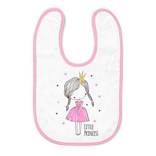 """Tassenliebe® """"Lätzchen mit Spruch Little Princess - Babylätzchen als Geschenk zur Geburt Mädchen, Geburtstag für Baby - waschbar (Rosa Little Princess)"""