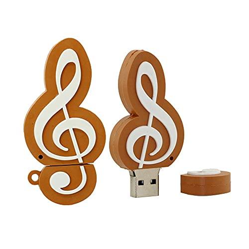 64GB Música Nota Forma USB Flash Drives Pen Drive Memoria Flash Stick...