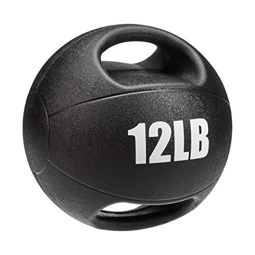AmazonBasics Medicine Ball with Handles, 12-lb