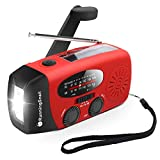 [Upgraded Version] RunningSnail Emergency Hand Crank Self Powered AM/FM NOAA Solar Weather Radio with LED...