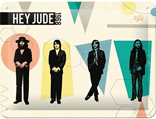 Nostalgic-Art Cartel de Chapa Retro Fab4 – Hey Jude – Idea de Regalo para los Fans de los Beatles, metálico,...