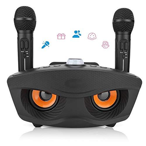 カラオケシステム VBESTLIFE 無線接続き AUXメディアスピーカー 2本高音質 ワイヤレスマイク+ホームKTVスピ...