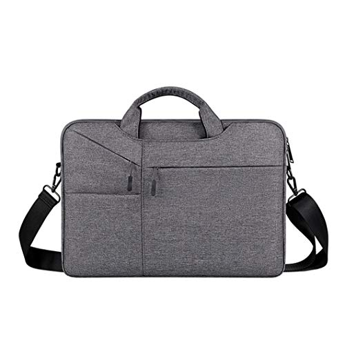 Business One-shoulder Handbag, Breathable and Waterproof Oxford Cloth Material-nylon Lining Briefcase, 13.3 Inches, 15.6 Inches [black Blue Gray] grey-13.3 inch