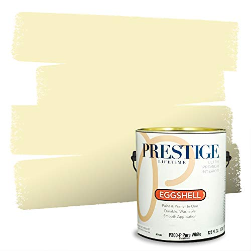 Prestige Paints Interior Paint and Primer In One, 1-Gallon, Eggshell, Comparable Match of Benjamin Moore* Light Of The Moon*