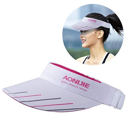 Flytise Chapeau de protection solaire,Nouveau chapeau réglable pour hommes et femmes avec large bord résistant aux ultraviolets Capuchon de visière pour plage Golf Fishing Marathon Running Cyclisme Éq