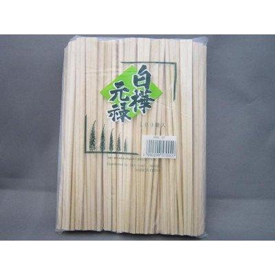 コインズ『割り箸 白樺元禄箸(8寸)裸 100膳ポリ入』