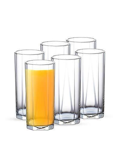 Ocean Pyramid Glass Set, 380ml, Set of 6, Transparent (5B0231306G0000)