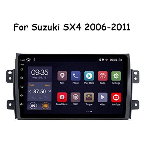 HP CAMP Autoradio per Auto 9 Pollici Android 9.0 Schermo Digitale Multi-Touch Autoradio per Suzuki SX4 2006-2011, Supporto Supporta GPS/WiFi/MTK/RDS Navigazione GPS,WiFi 1G+16G