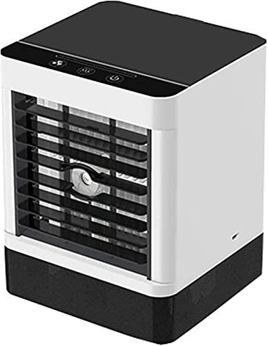 DERUKK-TY Aire Acondicionado portátil Personal, Mini Enfriador evaporativo 3 en 1 y Puerto USB de 3 velocidades de Ventilador, Adecuado para el hogar, la Oficina y el Dormitorio.