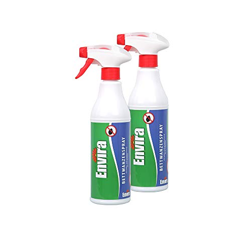 Envira Bettwanzen-Spray - Anti-Bettwanzen-Mittel Mit Langzeitwirkung - Geruchlos & Auf Wasserbasis - 2x500ml