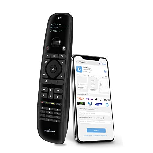 Sofabaton U1 Universal Remote Control Smart APP Setting, Harmony Remote Replace up to 15 Bluetooth & IR Devices, All in One Remote with OLED Display...