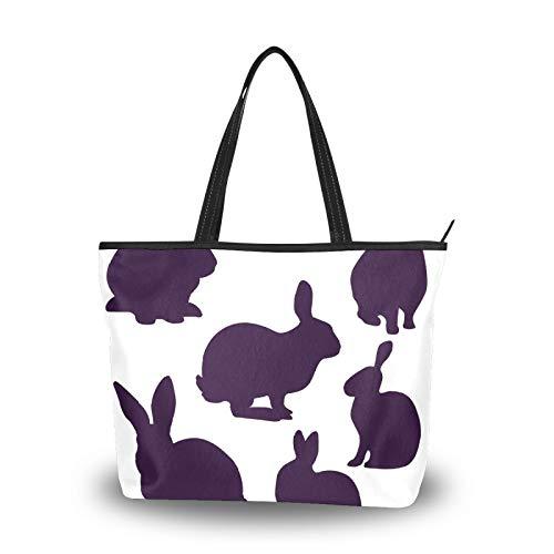 Bolsos de mano para mujer, gran capacidad, viajes, casual, compras, trabajo, bolso de mano, bolso de mano, bolso de mano, conejos, Pascua, conejo