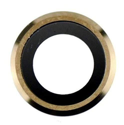Compatible con iPhone 6/6S cámara trasera lente de cristal dorado
