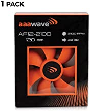 Set of 1 - AAAwave 120mm Double Ball Bearing Silent Cooling Fan Compatible with CPU Coolers, Water-Cooling Radiators, and PC Cases (Set of 1)