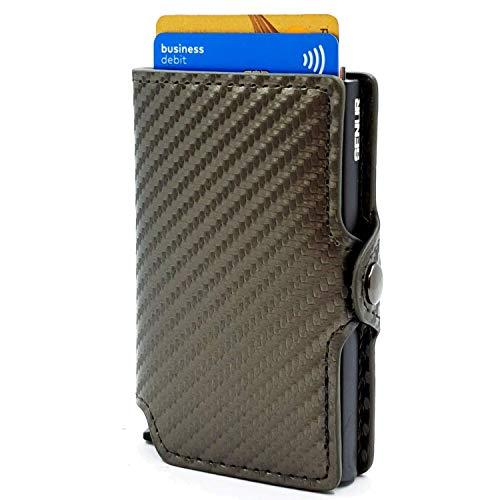 Kaartenetui carbon grijs SENUR | Slim creditcardetui RFID NFC Blocking | portemonnee portemonnee kaarthouder