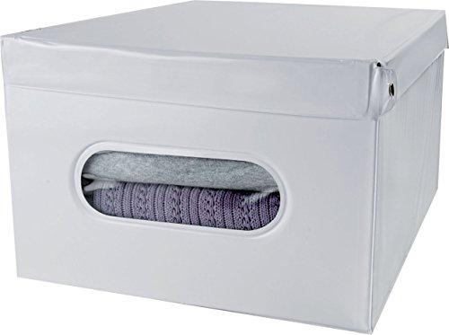 Compactor de Rangement 28 cm PVC et Carton boîte Blanc