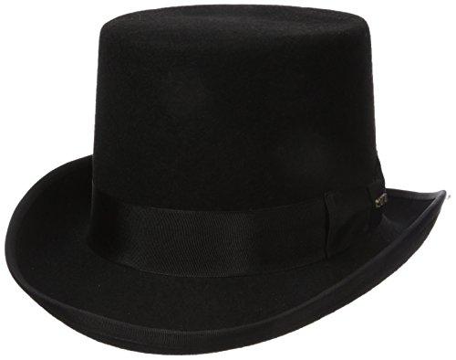 Scala Men's Wool Felt Topper Hat, Black, Extra Large -  Dorfman Pacific Co. Inc Men's Headwear, WF568-BLK-XL