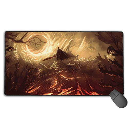 Berserk Japanese Animation Large Gaming Mouse Pad XXL Extended Mat Desk Pad Mousepad Long Non-Slip Rubber Mice Pads Stitched Edges 29.5'x15.7'