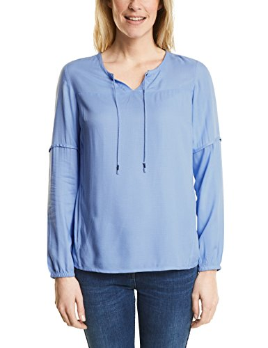 Cecil Damen 340765 Bluse, Blau (Indigo Light Blue 11247), Medium