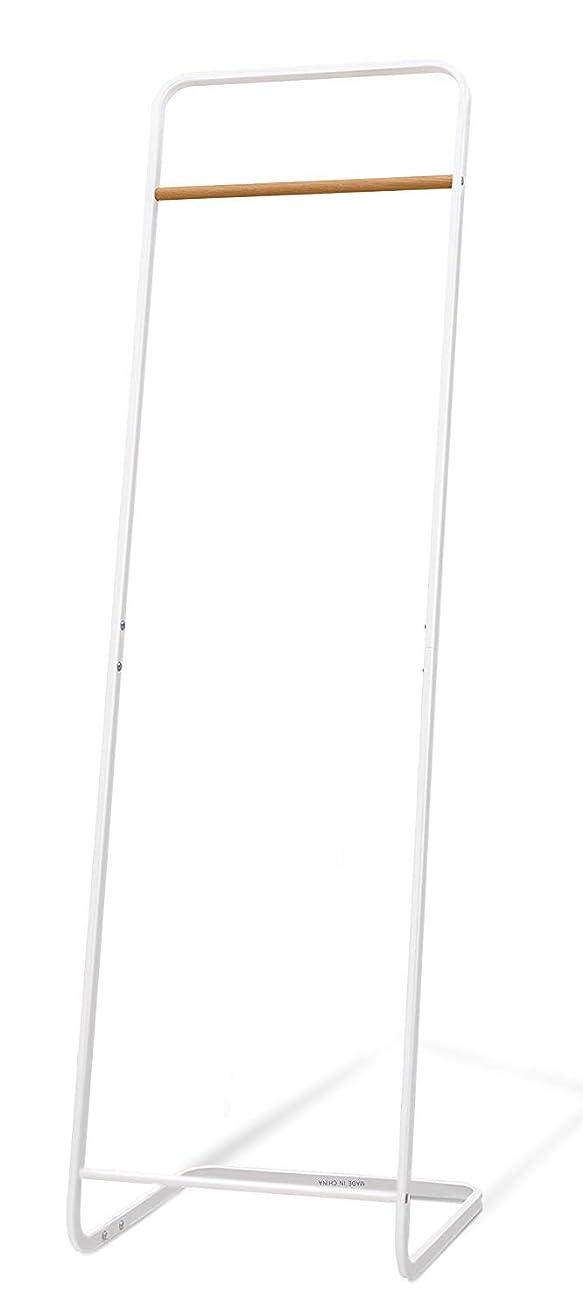 乱す発見カスタムハンガーラック スリム コートハンガー 洋服掛け 省スペース 紛体塗装 防サビ加工 耐荷重20kg 頑丈 おしゃれ ホワイト 幅40×奥行40×高さ140cm YB-6055