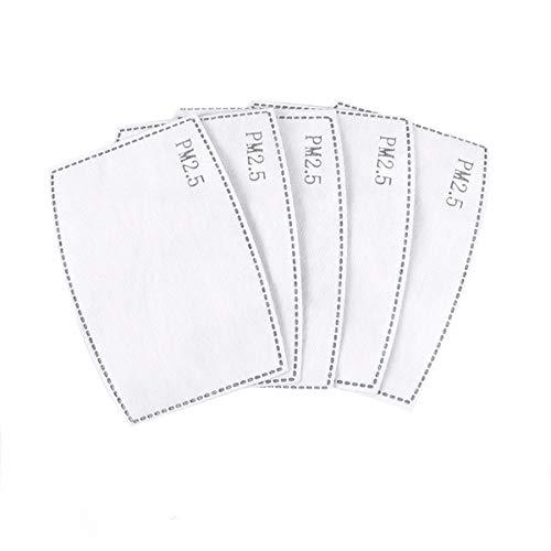 Anseni 20 Filtros Para Mascarillas de Tela Reutilizables,Filtros PM 2.5 Reemplazable Tamaño 12cmX8cm
